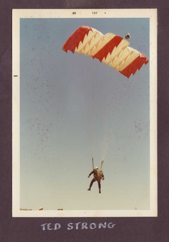 Ted Strong parachute